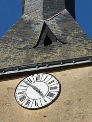 A nouveau chez Virginie et Yann (Chti-breton) Tags: clocher ardoise horloge