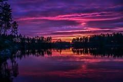 Sunset (vilomaki) Tags: sunset lake auringonlasku evening finland jrvi afterglow iltarusko water nature summer cottage clouds orange