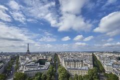 Avenidas de Pars 1 (CarlosJ.R) Tags: arcdotriomphe arcodetriunfo eiffel france francia pars torreeiffel