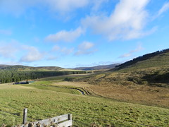 Strathdon, View from Corgarff Castle, Nov 2016 (allanmaciver) Tags: strathdon corgarff rural countryside tracks forest farmland estate weather vlue sky clouds cold bitter allanmaciver