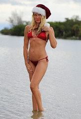 Christmas In July (California Will) Tags: dawn model fitness bikini swimsuit santa hat christmas sequin beauty beautiful belle beach florida fl
