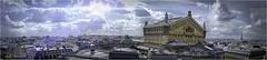 Là-bas, tu vois... Elle est là. (Siolas Photography) Tags: paris panorama ciel sky francequébec france extérieur eiffel opéragarnier