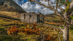 Say a prayer ( In Explore 1/12/16) (Einir Wyn) Tags: landscape chapel cwmorthin wales placeofworship colour light leaf snowdonia sky autumn leaves gold outdoor mountains trees industry quarry nikon sigma