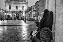 Brescia into the Heart (drugodragodiego) Tags: rossella piazzadellaloggia brescia lombardia italy heart portrait ritratto blackandwhite blackwhite bw biancoenero architecture rain pioggia pentax pentaxk1 k1 hdpentaxdfa2470mm hdpentaxdfa2470mmf28edsdmwr pentaxiani