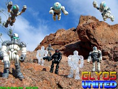 """GLYOS UNITED"" By Alexis Dyer (Alexis Dyer) Tags: landscape toy toys actionfigure design action space alien deep adventure fantasy figure scifi sciencefiction custom patrol micronauts customizing customize microman interchangeable mattdoughty customizable onell glyos glyan"