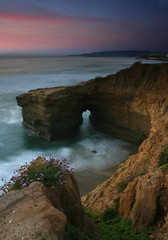 Sea Arch SSC Sunset (scun11) Tags: ocean california longexposure sunset sea cliff seascape color beach nature water rock clouds canon landscape coast spring lowlight sand sandiego shoreline shore oceanbeach coastline westcoast sunsetcliffs seaarch