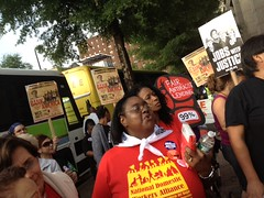 "Domestic workers from NDWA at BoA in Charlotte • <a style=""font-size:0.8em;"" href=""http://www.flickr.com/photos/76961723@N08/7164307458/"" target=""_blank"">View on Flickr</a>"