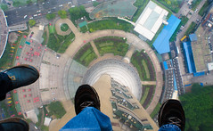 It's a Long Way Down (Erik Lykins) Tags: china city travel feet buildings asia downtown day cities down tourist observatory destination 20mm pudong attraction observationdeck orientalpearltower glassfloor 20mmf28 d7000 sightseeingdeck