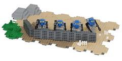 More Terrain Testing (pasukaru76) Tags: terrain lego interlocking moc canon100mm mfz mobileframezero