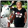 Look do dia # Pousando com Cow Pareide Germânica (*Sonhos e Retalhos Ateliê*) Tags: colagem patchwork camiseta caveira bordado botões patchcolagem apliquê camisetacompatchcolagem caveirismo