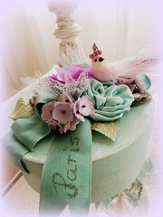 Paris Tre'sor box (AllThingsPretty...) Tags: blue paris french aqua box lavender crackle fabricroses