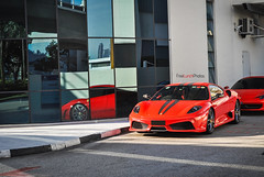 In the Light (FreeLunchPhotos) Tags: light red singapore italia ferrari beam scuderia leng kee 430 458
