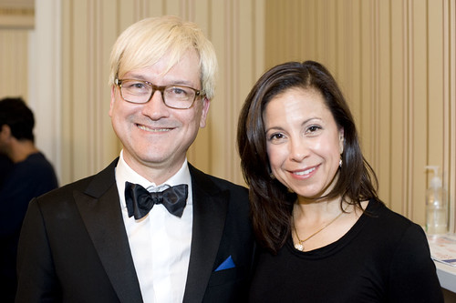 Director Chris Fujiwara and Dana Linnet at the US Consulate Reception