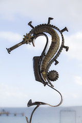 Sea Horse (Craig Wilson Photography) Tags: sea sculpture horse male art beach marine seahorse artistic recycled may railway pouch approved awards creatures spikes buttonhole evolved castaways rockingham punches 2013