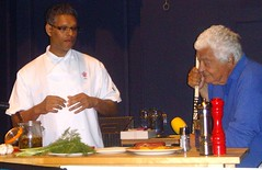 Chef Antonio Carluccio and Prince Charles's personal chef Visen Anenden (Tony Worrall Foto) Tags: show uk england italy food cooking fun demo italian yorkshire north event taste annual venue meet malton greet foodie antoniocarluccio northyorks tvchef 2013tonyworrall visenanenden maltonfoodfestival2013 princecharlesspersonalchefvisenanenden