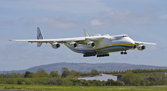 Antonov An-225 arriving at Shannon (birrlad) Tags: ireland 6 airplane airport clare aircraft aviation airplanes cargo landing shannon engines airline co approach airlines russian runway biggest airliner freighter antonov an225 mriya