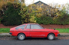 1980 Datsun Sunny (stephen trinder) Tags: red christchurch car landscape 1980 datsun 120y thecarsofchristchurch