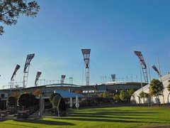 Skoda Stadium (mikecogh) Tags: shadows stadium lawn olympicpark lighttowers skodastadium