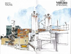Mlaga, El Atabal (Luis_Ruiz) Tags: urban plant water station architecture sketch industrial drawing sketchbook dibujo malaga stillman treatment sketchers birn desalobradora