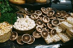 mushrooms (f x d b b b t) Tags: uk greatbritain england london film 35mm mushrooms market kodak contax boroughmarket borough portra t2 contaxt2