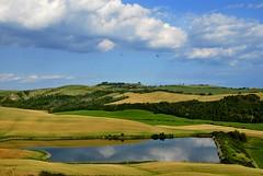 Crete di primavera (Antonio Cinotti ) Tags: italy panorama primavera italia day cloudy country hill hills tuscany crete toscana toskana