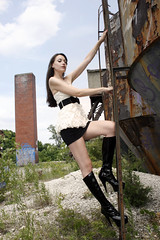 Kyle Layman (Little Ones Photography) Tags: columbus beauty graffiti pretty boots decay urbandecay models silhouettes abandon columbusohio gasmask underware halfnaked grimy littleonesphotography