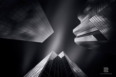 Confrontation (S.D.G Photographie) Tags: city longexposure light sky urban blackandwhite bw cloud white black paris france building art architecture contrast photoshop canon dark photography lights blackwhite artist skies cityscape lumire details fineart fine perspective creative ladefense architectural sharp ciel lee montage series conceptual nuage skyward defense franais bwphotography combination fineartphotography sdg fil innovative leefilter leefilters 16stops sebastiendelgrosso