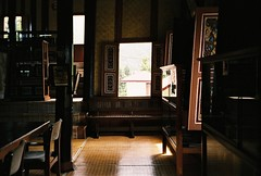 (yttria.ariwahjoedi) Tags: camera blue roof sky house west film architecture sumatra indonesia point asia shoot pattern pointy shot riva minolta zoom interior seat south traditional culture sunny east 150 shape ethnic padang sumatera bagonjong