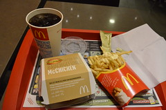 McDonalds dinner (SpirosK photography) Tags: food dinner frenchfries mcdonalds hamburger luxembourg luxembourgcity