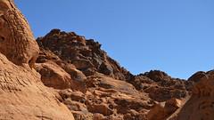 Two Elements  DSC_2165 (iloleo) Tags: park sky valleyoffire landscape sandstone rocks desert nevada scenic colourful nikond7000