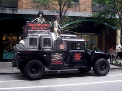 Jekyll and Hyde Ghost Humvee With Failed Cryogenics Tubes 3197 (Brechtbug) Tags: street new york city nyc robert halloween hat monster square skulls skeleton skull restaurant costume king with mr top dr ghost broadway lewis location kong hyde stevenson doctor figure horror theme mister times skeletons avenue 9th humvee creature villain prop jekyll waxwork cryogenics cryonics 2013 43th