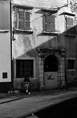 _IMG0507 (Andrea Chiggiato) Tags: blackandwhite bw black monochrome 50mm nikon mare slovenia croazia rovigno paesaggio istria d800 2035