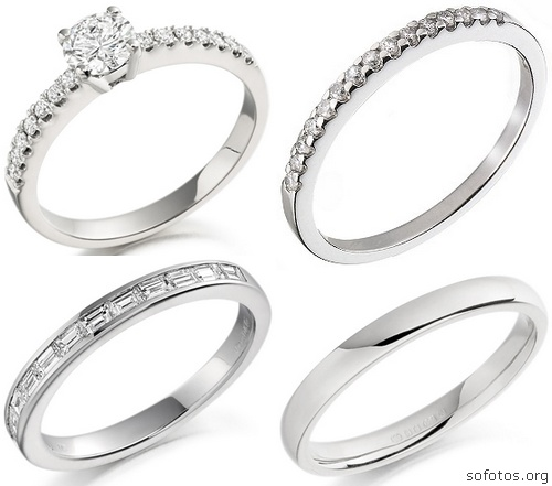 Alianças de noivado em prata