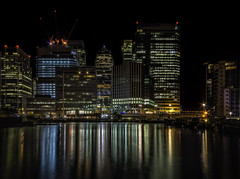 Canary Wharf (rayfidler3560) Tags: london reflections august nightshoot workshop canarywharf 2013 dougchinnery