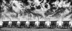 Lifeguards (Ron T) Tags: bw beach lifestyle eyeview californiabeaches ronaldtalley