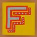 Bob and Roberta Smith Alphabet Block Letter F