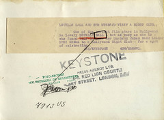 1955 vi 21 Anon for Keystone Hollywood - Lucille Ball and Desi Arnaz nightclubbing verso (blacque_jacques) Tags: bw movie star tv american desi 1950s fim actor lucilleball aranaz