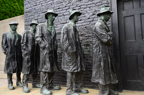 Depression Bread Line by George Segal, From FlickrPhotos