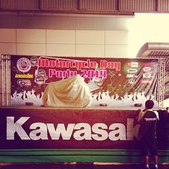 เอ๋... คาวาซากิเขามีอะไรน๊า หรือจะมีเซอร์ไพส์ #Kawasaki #BKKmotorshow #lastday #surprise