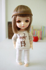 Little Deer Top (nettle.) Tags: yellow shirt 30 asian cafe dolls you handmade top group cm clothes made tiny micro lea addicted fans dedicated dollfie nettle basic galore fashions balljointed latidoll addicts lati babyz tinybjd gupr ♥bjd ♥sewn