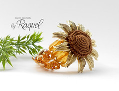 Micro Macrame PDF PATTERN Sunflower Bracelet (Raquel's Designs) Tags: diy micro macrame tutorials margaretenspitze