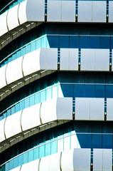 Etisalat Tower building. Sheikh Zayed Road. May 9, 2015. 8am. (inspiredbydubai) Tags: windows building geometric glass architecture skyscraper dubai details uae emirates ornament etisalat