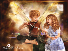Tilly & the Tooth Fairy Scene 9 (Fairy Tales Imagery, Inc.) Tags: boy money girl tooth happy bed wings bedroom child coins magic story fairy surprise storybook magical enchantment tilly enchant chidren enchanting