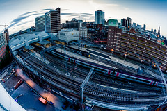 Leeds - Sunset (Jonathan Covell Photography) Tags: portrait urban color architecture night canon landscape photography leeds explore ambient 5d nightlife wandering lurking urbex mkiii 2015 jcovellphoto leedslurking