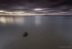 I am a rock, I am an Island........ (Pureo) Tags: longexposure sky seascape water canon reflections rocks northumberland northsea northeast waterscape northeastengland coquetisland canon6d lowhauxley