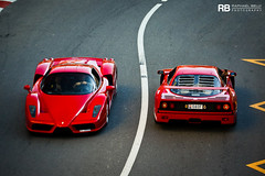 Enzo & F40 (Raphal Belly Photography) Tags: rb raphal monaco principality principaut mc montecarlo monte 98000 carlo hotel de paris french riviera south france luxury supercar supercars spotting car cars voiture automobile raphael belly canon eos 7d photographie photography casino fight aids 2016 children future red rouge rosso rossa ferrari enzo f40
