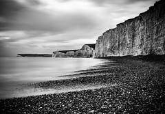 Birling Gap (robertoverton1) Tags: longexposure longexposurephotography landscape coast southeast southcoast pebbles canon contrast beautiful silky neutraldensity nature sea sky water cliffs colour kent dramatic beach view serene blackandwhite monochrome outdoors