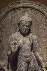 Buddhist Sculpture (K.G.Hawes) Tags: chazenmuseumofart art history historic historical india indian sculpture statuary statue statues relief stone carved carving religious religion buddha buddhist buddhism