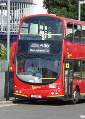 GAL WVL119 - LX03ECV - NORTH GREENWICH STATION - WED 14TH SEPT 2016 (Bexleybus) Tags: go ahead goahead london north greenwich bus station volvo wrightbus gemini eclipse wvl119 lx03ecv tfl route 486