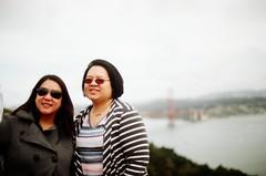 (golfpunkgirl) Tags: goldengatebridge sanfran sanfrancisco sf california bridge friends holiday canonav1 canon slr film lomo lomographyfilm 400speed negfilm travel trip may2016